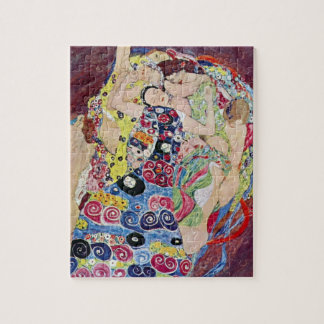 Maiden (Virgin), Gustav Klimt, Vintage Art Nouveau Jigsaw Puzzle