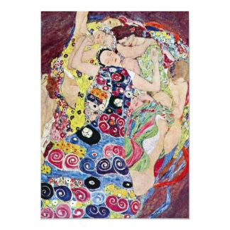 Maiden (Virgin), Klimt, Art Nouveau Bridal Shower 13 Cm X 18 Cm Invitation Card
