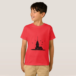 Maiden's Tower Red T-Shirt for Kids