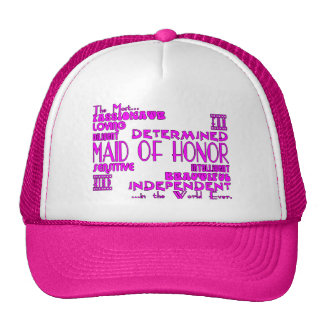 Maids of Honor Wedding Party Favors : Qualities Cap