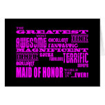 Maids of Honour Fun Gifts : Greatest Maid of Note Card