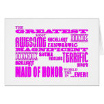 Maids of Honour Fun Gifts : Greatest Maid of Honou Greeting Cards