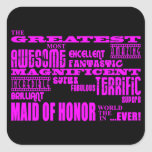 Maids of Honour Fun Gifts : Greatest Maid of Honou Stickers