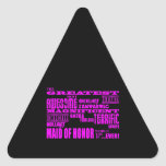 Maids of Honour Fun Gifts : Greatest Maid of Honou Triangle Sticker