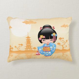Maiko Kokeshi Doll - Cute Japanese Geisha Girl Decorative Cushion
