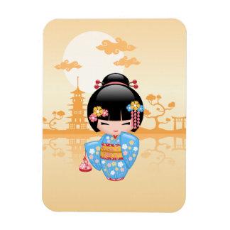 Maiko Kokeshi Doll - Cute Japanese Geisha Girl Magnet