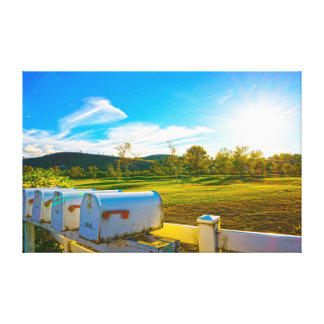 Mail Box on a Farm Landscape Photo Wall Art