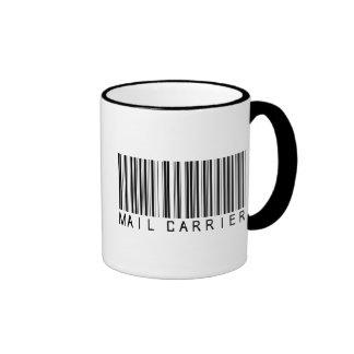 Mail Carrier Bar Code Coffee Mugs