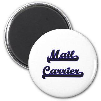 Mail Carrier Classic Job Design 6 Cm Round Magnet