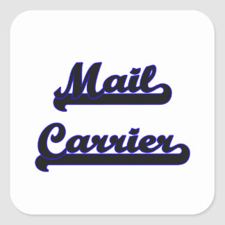 Mail Carrier Classic Job Design Square Sticker