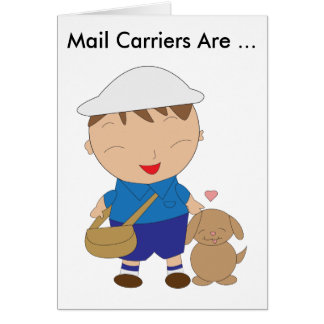 Mail Carrier Postal Worker Appreciation Greeting Card