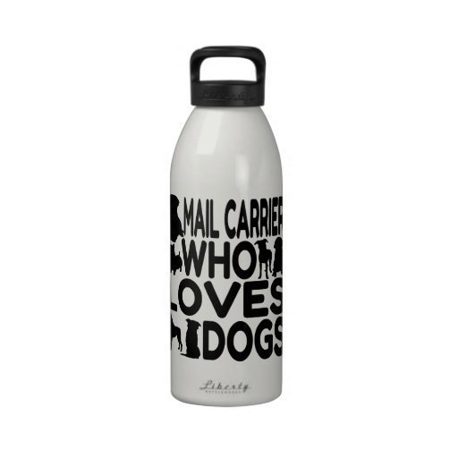 Mail Carrier Who Loves Dogs Reusable Water Bottle