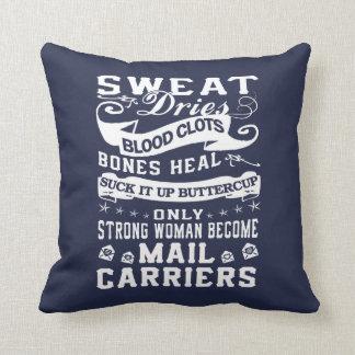 Mail Carrier Woman Cushion