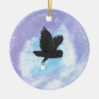 Mail Owl Ceramic Ornament