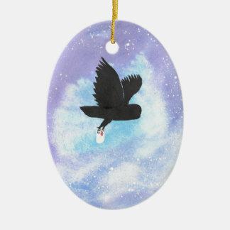 Mail Owl Ceramic Oval Decoration