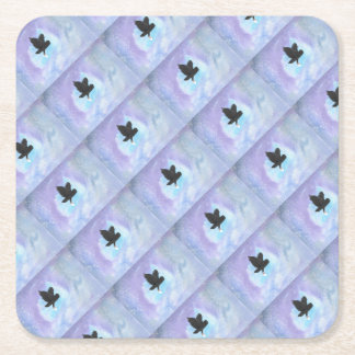 Mail Owl Square Paper Coaster