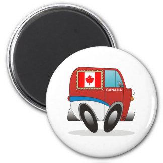 Mail Truck Canada 6 Cm Round Magnet