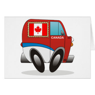 Mail Truck Canada Greeting Card