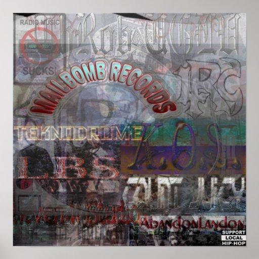Mailbomb Records Artist's Poster