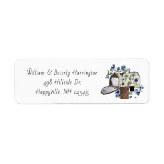 Mailbox Art Skinny White Address Label