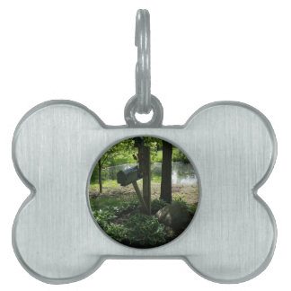Mailbox by the pond pet name tag