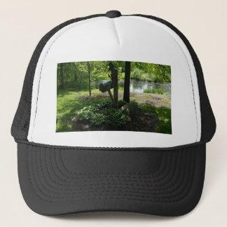 Mailbox by the pond trucker hat