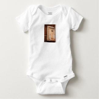 Mailbox rusty outdoors baby onesie