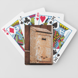 Mailbox rusty outdoors bicycle playing cards