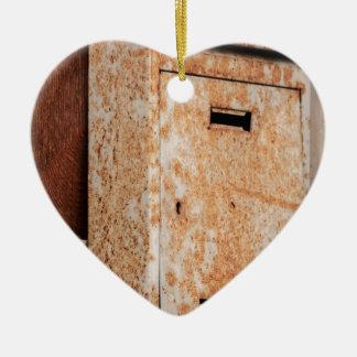 Mailbox rusty outdoors ceramic heart decoration