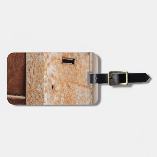 Mailbox rusty outdoors luggage tag