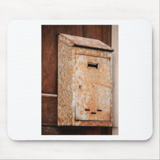 Mailbox rusty outdoors mouse pad