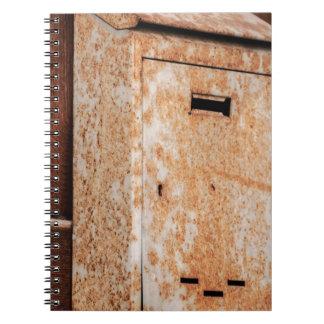 Mailbox rusty outdoors notebook