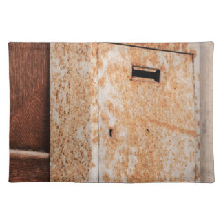 Mailbox rusty outdoors placemat