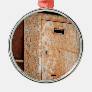 Mailbox rusty outdoors Silver-Colored round decoration
