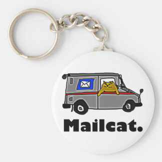 Mailcat Basic Round Button Key Ring