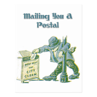 Mailing You A Postal - Or Not! Postcard