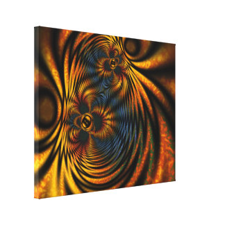 Maillie's Garden Abstract Stretched Canvas Print