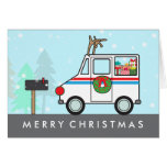 Mailman Mail Lady Christmas Holiday Thank You Greeting Card