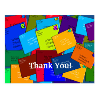 Mailman THANK YOU POSTCARDS  Letters