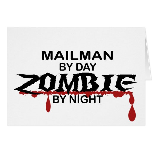 Mailman Zombie Greeting Cards