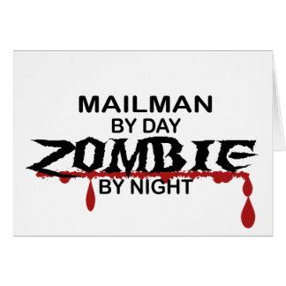 Mailman Zombie Greeting Card