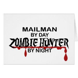 Mailman Zombie Hunter Greeting Card