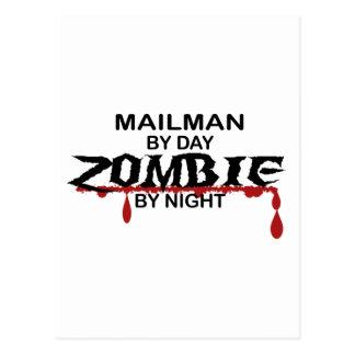 Mailman Zombie Postcard