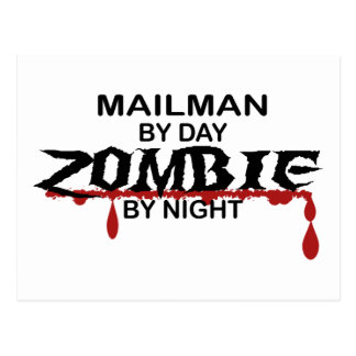 Mailman Zombie Post Cards