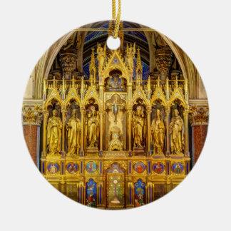 Main Altar In Votivkirche, Vienna Austria Ceramic Ornament