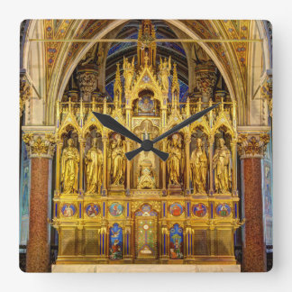 Main Altar In Votivkirche, Vienna Austria Square Wall Clock