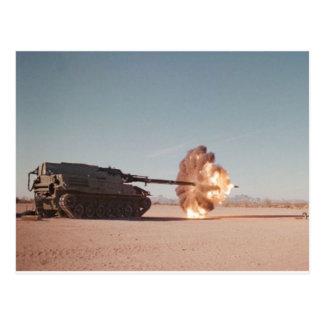 Main battle Tank Firing Postcard