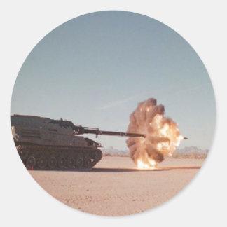 Main battle Tank Firing Round Sticker