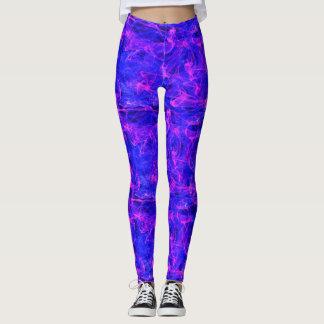 main blue pink swirls around leggings