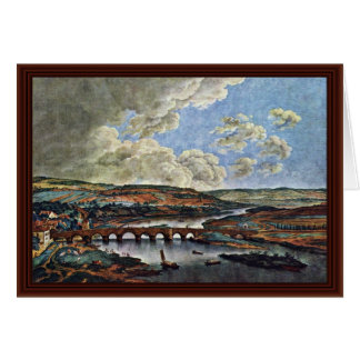 Main Bridge In Aschaffenburg By Kobell Ferdinand Card